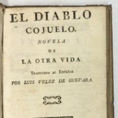Libros antiguos: EL DIABLO COJUELO. NOVELA DE LA OTRA VIDA. - [ANÓNIMO.] . Lote 169663772
