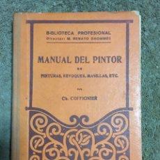 Libros antiguos: MANUAL DEL PINTOR. Lote 169691744