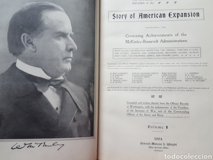 THE OFFICIAL AND PICTORICAL RECORD OF THE STORY OF AMERICAN EXPANSION 1904 GUERRA CUBA, FILIPINAS... (Libros Antiguos, Raros y Curiosos - Historia - Otros)