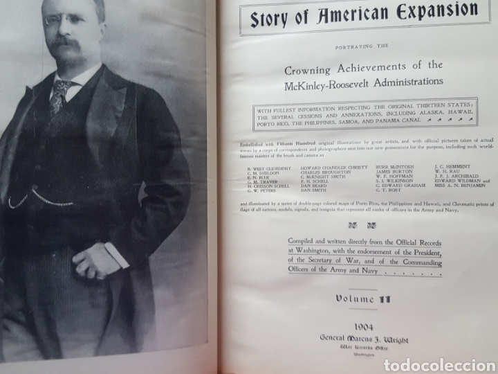 Libros antiguos: THE OFFICIAL AND PICTORICAL RECORD OF THE STORY OF AMERICAN EXPANSION 1904 Guerra Cuba, Filipinas... - Foto 2 - 169764125