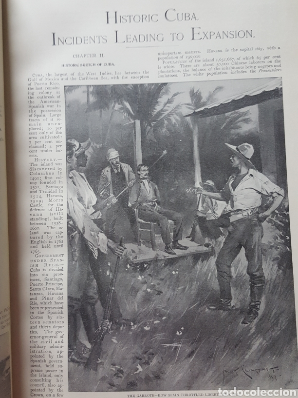 Libros antiguos: THE OFFICIAL AND PICTORICAL RECORD OF THE STORY OF AMERICAN EXPANSION 1904 Guerra Cuba, Filipinas... - Foto 6 - 169764125