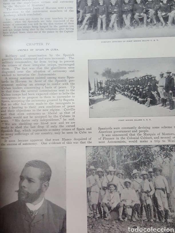 Libros antiguos: THE OFFICIAL AND PICTORICAL RECORD OF THE STORY OF AMERICAN EXPANSION 1904 Guerra Cuba, Filipinas... - Foto 8 - 169764125