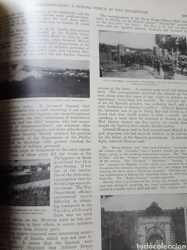 Libros antiguos: THE OFFICIAL AND PICTORICAL RECORD OF THE STORY OF AMERICAN EXPANSION 1904 Guerra Cuba, Filipinas... - Foto 26 - 169764125