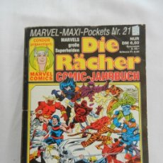 Libros antiguos: DIE RÄCHER - MARVEL MAXI POCKETS Nº 21 - COMIC JAHRBUCH - BERLÍN 1991. . Lote 169920572