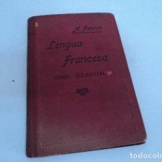 Libros antiguos: LIBRO ANTIGUO ESTUDIO LENGUA FRANCESA CURSO ELEMENTAL ALPHONSE PERRIER 1920 . Lote 169921128