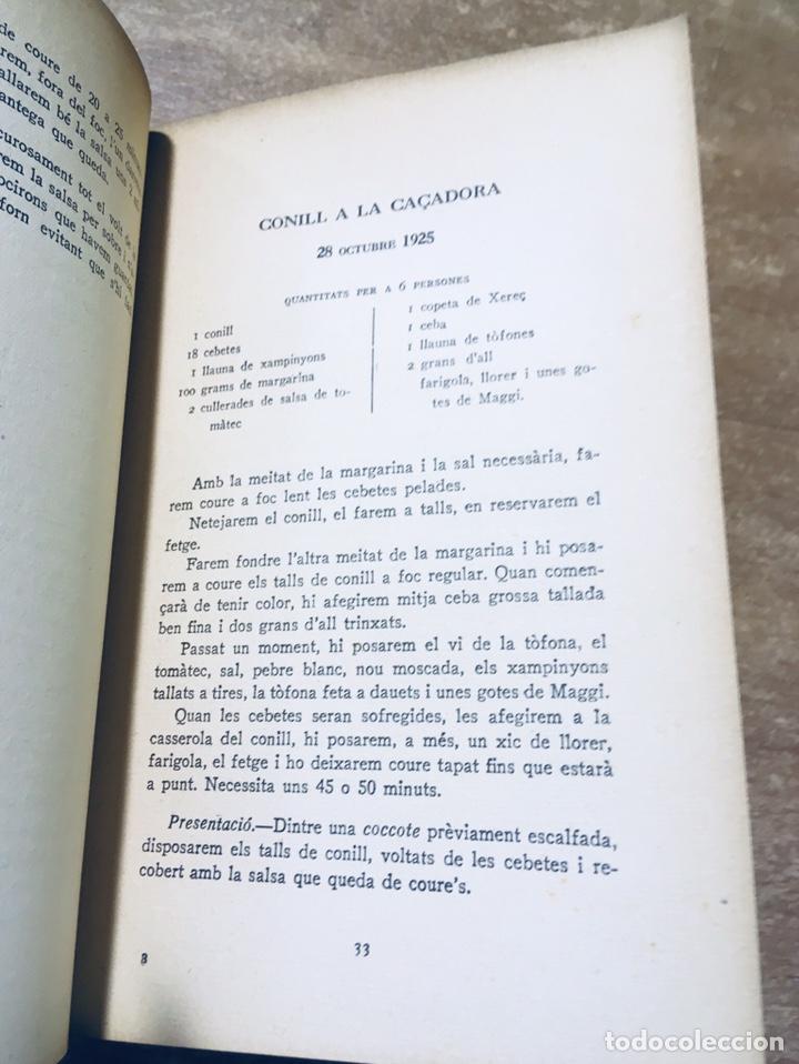 Libros antiguos: CLASSES DE CUINA - CURS DE 1925 - 1926 - JOSEP RONDISSONI - INSTITUT CULTURA POPULAR DONA - Foto 4 - 170077306
