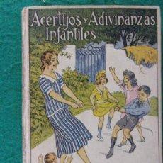 Libros antiguos: ACERTIJOS Y ADIVINANZAS INFANTILES / E. SANCHEZ RUEDA / TOMO 4º / 3ª EDICIÓN. Lote 170090832