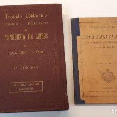 Libros antiguos: DOS LIBROS TENEDURÍA DE LIBROS. Lote 170108368