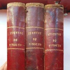 Libros antiguos: CUENTOS DE PINOCHO (3 TOMOS) - SATURNINO CALLEJA (1923-1926). Lote 170108932