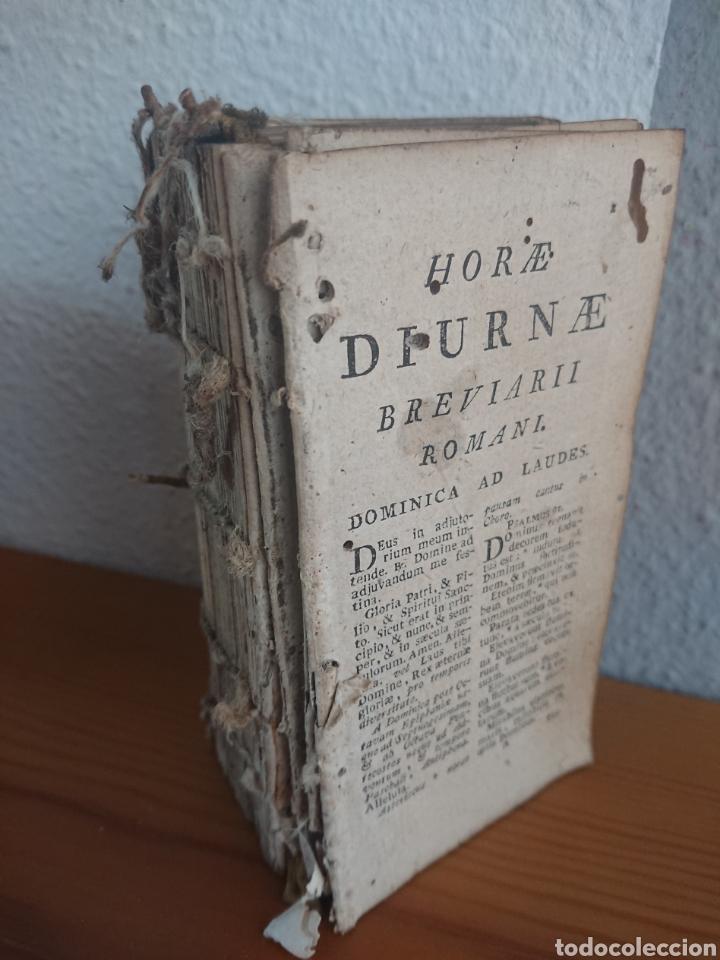 BREVIARII ROMANI, HORAE DIURNAE, 1796 (Libros Antiguos, Raros y Curiosos - Pensamiento - Otros)