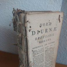 Libros antiguos: BREVIARII ROMANI, HORAE DIURNAE, 1796. Lote 170187661