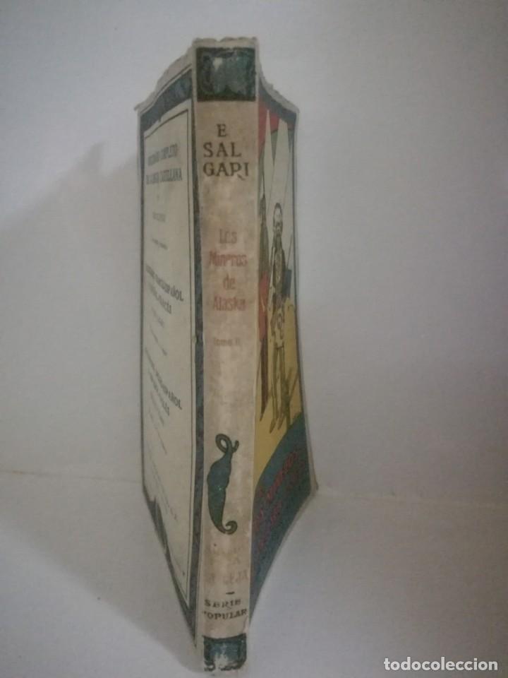 Libros antiguos: EMILIO SALGARI: LOS MINEROS DE ALASKA - TOMO 2 . **SATURNINO CALLEJA** - Foto 3 - 170241624