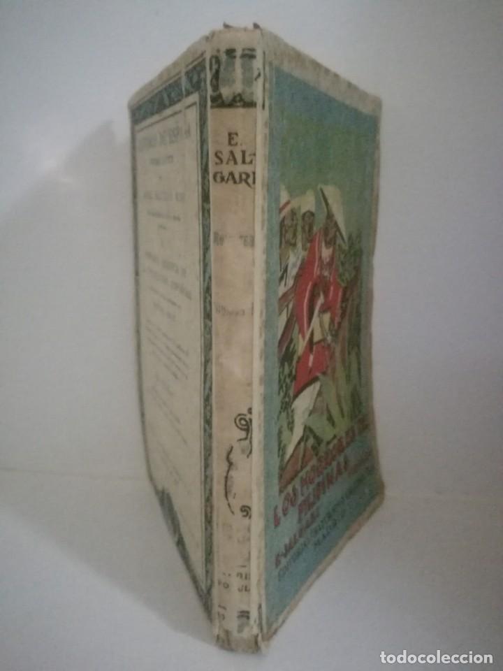 Libros antiguos: EMILIO SALGARI: LOS HORRORES E FILIPINAS - TOMO 2. **SATURNINO CALLEJA** - Foto 3 - 170246360