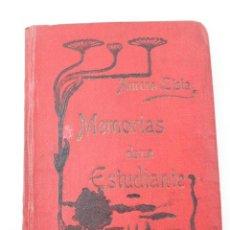 Libros antiguos: L-1585. MEMORIAS DE UN ESTUDIANTE AURORA LISTA, 1904. . Lote 170266384