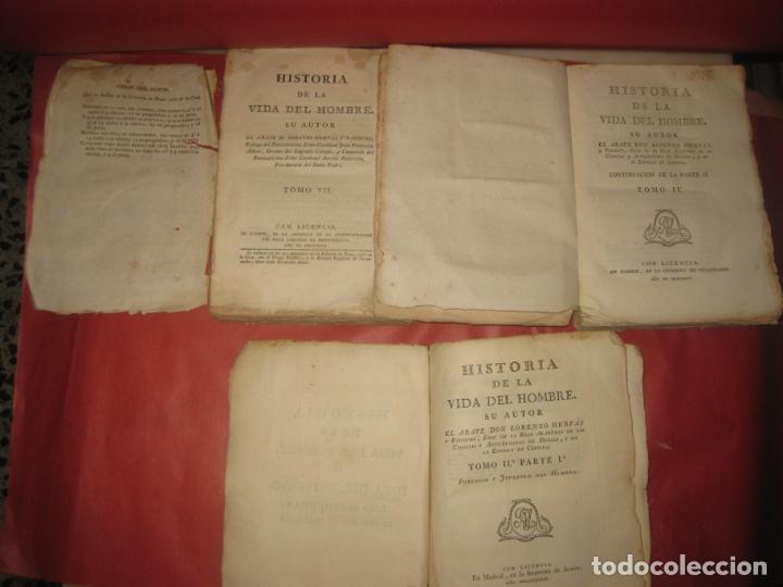 Libros antiguos: HISTORIA DE LA VIDA DEL HOMBRE. ABATE LORENZO HERVAS. TOMO II 1ª TOMO IV TOMO VII. 1789,1796,1799 - Foto 2 - 170332636