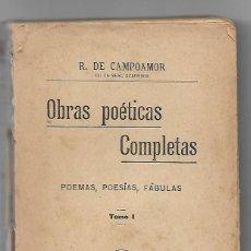 Libros antiguos: OBRAS POÉTICAS COMPLETAS. Lote 170483240