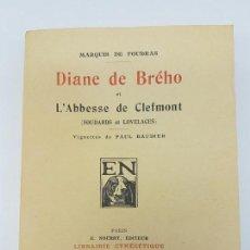 Libros antiguos: CAZA ( DIANE DE BRÉHO ) MARQUIS FOUDRAS TIRADA 1,200 ( FRANCES ). Lote 170522784