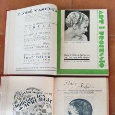 Libros antiguos: 2 LIBRO,PELUQUERIA FEMENINA,ARTE Y PROFESION,AÑO 1932-1933,25 REVISTAS PEINADOS CABELLO,BARBERIA. Lote 170546796