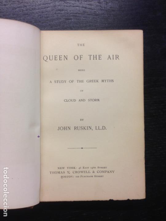THE QUEEN OF THE AIR, STUDY OF THE GREEK MYTHS OF CLOUD AND STORM, RUSKIN, JOHN, 1869 (Libros Antiguos, Raros y Curiosos - Pensamiento - Otros)