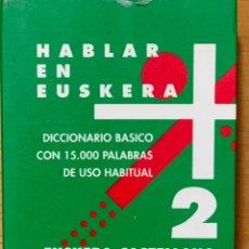Libros antiguos: DICCIONARIO ······ HABLAR EN EUSKERA - EUSKERA - CASTELLANO.. Lote 171028582