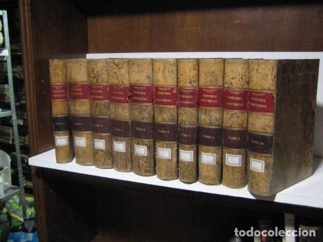 1854-1878 / HISTORIA UNIVERSAL POR CESAR CANTU / 10 TOMOS / IMPRENTA Y LIBRERIA DE GASPAR,EDITORES (Libros Antiguos, Raros y Curiosos - Historia - Otros)