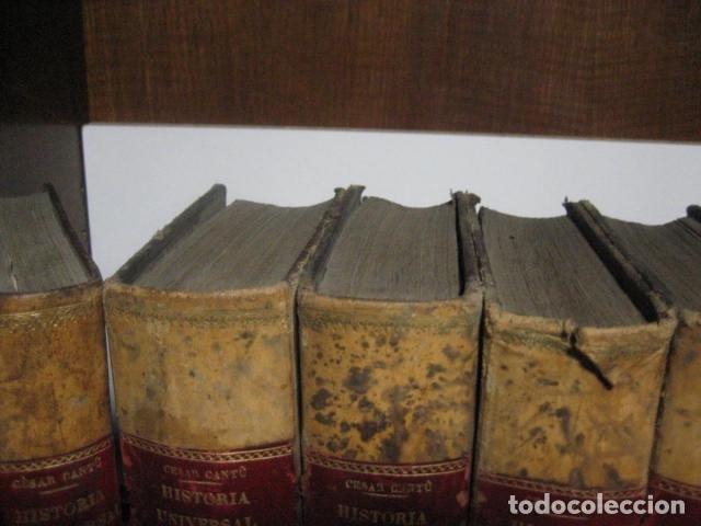 Libros antiguos: 1854-1878 / HISTORIA UNIVERSAL POR CESAR CANTU / 10 TOMOS / IMPRENTA Y LIBRERIA DE GASPAR,EDITORES - Foto 7 - 171057629