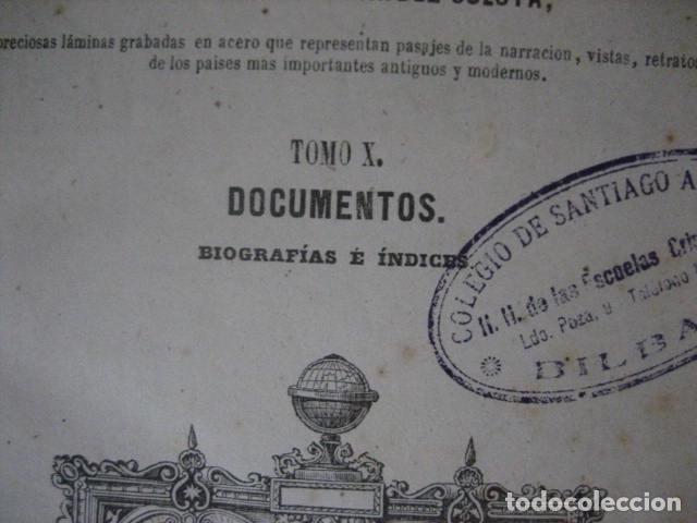 Libros antiguos: 1854-1878 / HISTORIA UNIVERSAL POR CESAR CANTU / 10 TOMOS / IMPRENTA Y LIBRERIA DE GASPAR,EDITORES - Foto 20 - 171057629