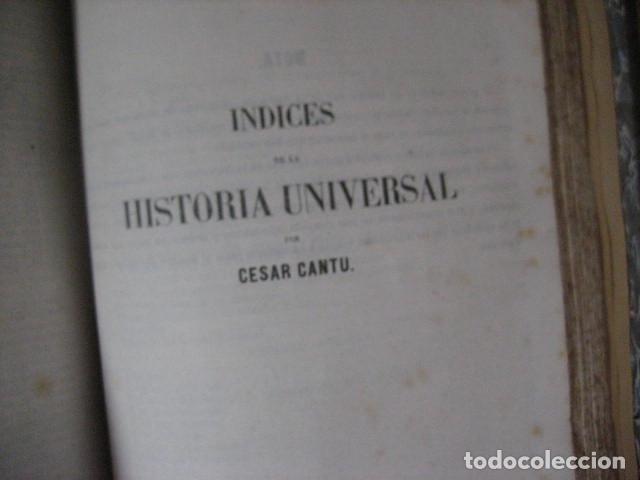Libros antiguos: 1854-1878 / HISTORIA UNIVERSAL POR CESAR CANTU / 10 TOMOS / IMPRENTA Y LIBRERIA DE GASPAR,EDITORES - Foto 26 - 171057629