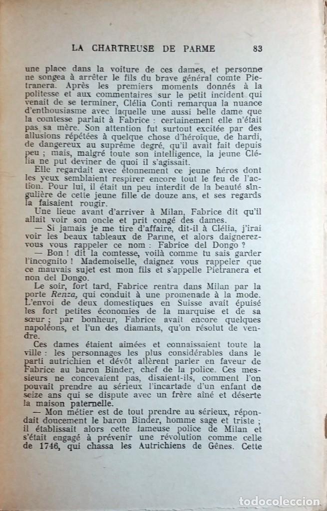 Libros antiguos: LA CHARTREUSE DE PARME : (TEXTE INTÉGRAL) / STENDHAL. PARIS : AUX QUAIS DE PARIS, 1864. - Foto 3 - 171082934