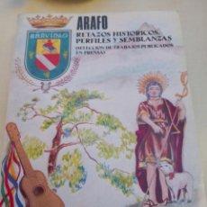Libros antiguos: RETAZOS HISTORICOS PERFILES Y SEMBLANZAS ARAFO TENERIFE VÍCTOR SERVILIO PÉREZ. Lote 178072923
