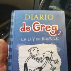 Libros antiguos: DIARIO DE GREG NUMERO 2 LA LEY DE RODRICK TAPA DURA. Lote 171141982