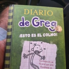 Libros antiguos: DIARIO DE GREG NUMERO 3 ESTO ES EL COLMO TAPA DURA. Lote 171142083