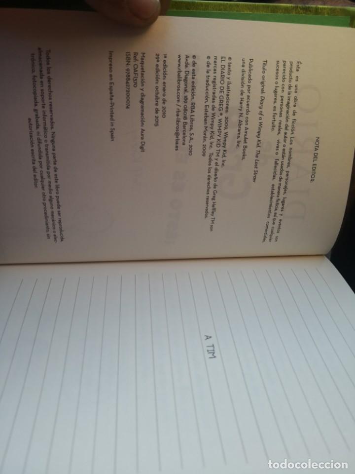 Libros antiguos: DIARIO DE GREG NUMERO 3 ESTO ES EL COLMO TAPA DURA - Foto 6 - 171142083