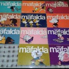 Libros antiguos: COLECCION COMPLETA MAFALDA TIRAS DE QUINO EDITORIAL LUMEN AÑOS 80. Lote 171231569