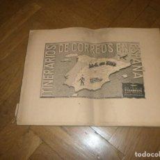Libros antiguos: ITINERARIOS DE CORREOS EN ESPAÑA ANTONIO VILLARROYA SAN MATEO 77 MAPAS INCLUYE MARRUECOS Y GUINEA . Lote 171260484