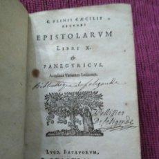 Libros antiguos: 1640. EPÍSTOLAS. PLINIO EL JOVEN. IMPRENTA ELZEVIRIANA.. Lote 171276128