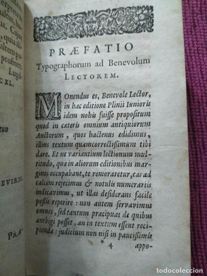 Libros antiguos: 1640. Epístolas. Plinio el joven. Imprenta Elzeviriana. - Foto 5 - 171276128
