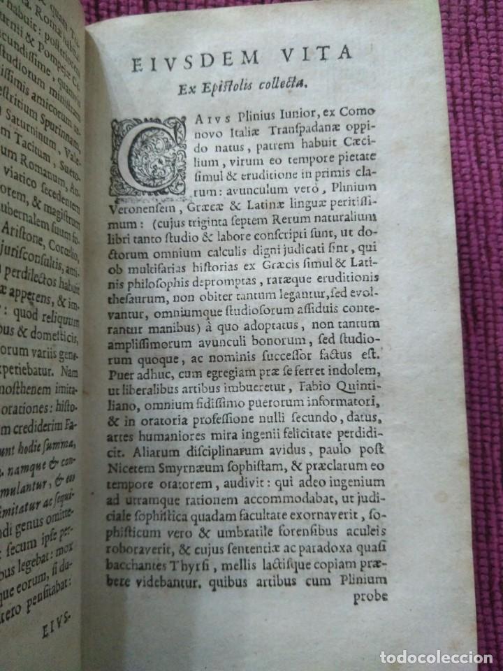Libros antiguos: 1640. Epístolas. Plinio el joven. Imprenta Elzeviriana. - Foto 7 - 171276128