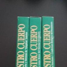 Libros antiguos: 3 LIBROS Y 3 VHS MARAVILLAS DE NUESTRO CUERPO. Lote 171316804
