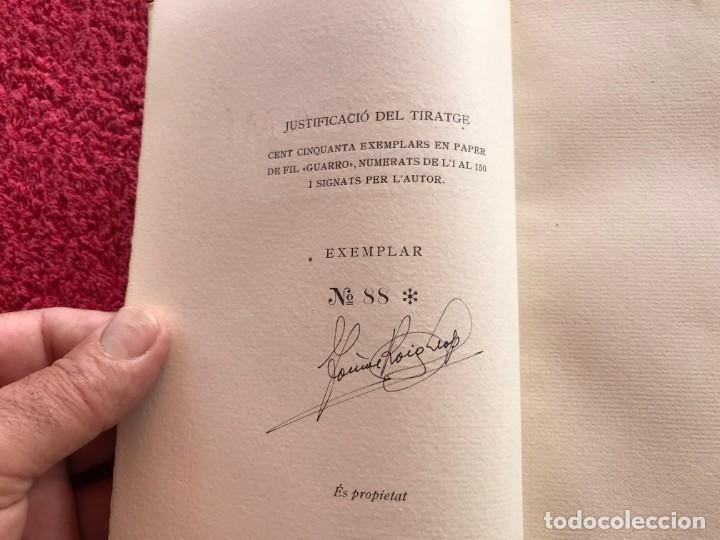 Libros antiguos: 1949.A MIG CAÍ. ANTOLOGIA. TOMÀS ROIG I LLOP. EDICIÓ PAPER DE FIL NÚMERO 88/150 SIGNAT. BARCELONA - Foto 6 - 171344985