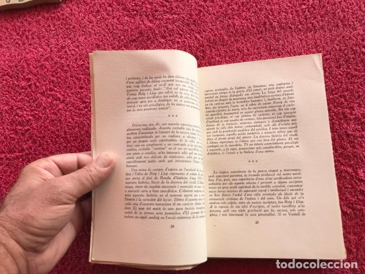 Libros antiguos: 1949.A MIG CAÍ. ANTOLOGIA. TOMÀS ROIG I LLOP. EDICIÓ PAPER DE FIL NÚMERO 88/150 SIGNAT. BARCELONA - Foto 8 - 171344985