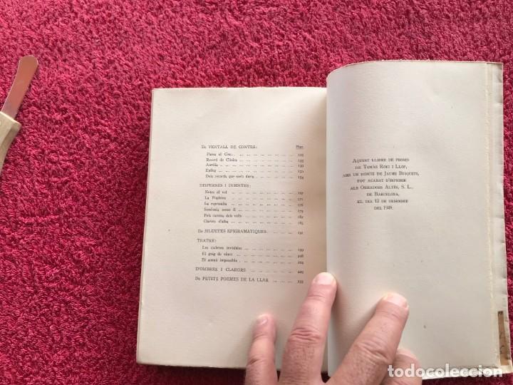 Libros antiguos: 1949.A MIG CAÍ. ANTOLOGIA. TOMÀS ROIG I LLOP. EDICIÓ PAPER DE FIL NÚMERO 88/150 SIGNAT. BARCELONA - Foto 13 - 171344985