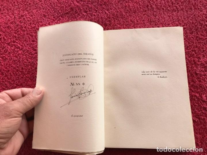 Libros antiguos: 1949.A MIG CAÍ. ANTOLOGIA. TOMÀS ROIG I LLOP. EDICIÓ PAPER DE FIL NÚMERO 88/150 SIGNAT. BARCELONA - Foto 15 - 171344985