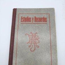 Libros antiguos: ESTIDIOS Y RECUERDOS 1925. Lote 171375405