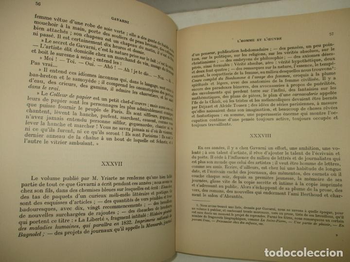 Libros antiguos: GAVARNI LHOMME ET LOEUVRE. GONCOURT, Edmond et Jules de. 1925. - Foto 4 - 171412162