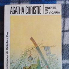 Libros antiguos: NOVELA- MUERTE EN LA VICARIA. Lote 171608993