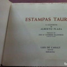 Libros antiguos: ESTAMPAS TAURINAS. Lote 171703977