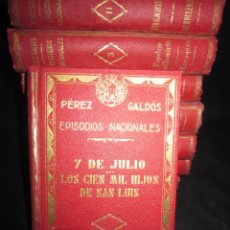 Libros antiguos: OBRAS DE PÉREZ GALDOS EPISODIOS NACIONALES. Lote 171752557