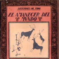 Libros antiguos: CARLES RIBA : EL AMANECER DEL MUNDO (MUNTAÑOLA, 1922). Lote 171779563