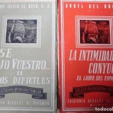 Libros antiguos: 3 LIBROS DE LA COLECCIÓN EDUCACIÓN Y FAMILIA. Lote 171842310